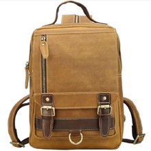 Mens Backpacks Bags Cow Leather 13 Laptop Man  File Business Casual Classic Notebook Travel Student Big Backpack Male