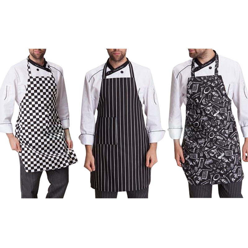 Hot Mens Womens Cafe Commercial Restaurant Chef Kitchen Bib Aprons  Convenient