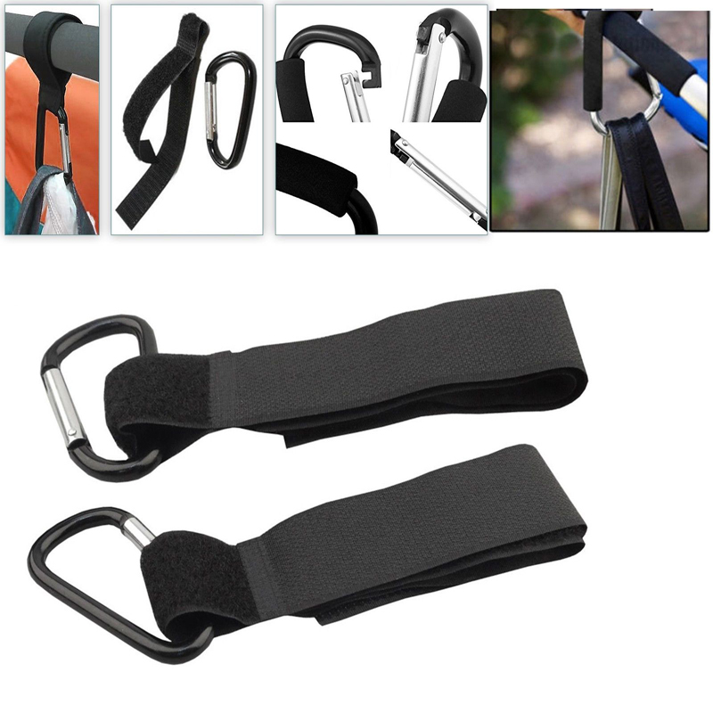2Pcs Universal Mummy Buggy Clip Pram Pushchair Stroller Hook Shopping Bag 2 Clips