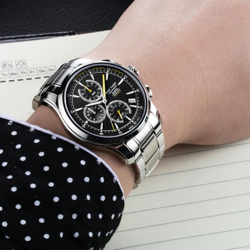 Reef Tiger luxury brand Watches Casual Sport Super Bright Men watch reloj hombre Chronograph Date waterproof Quartz wrist Watch