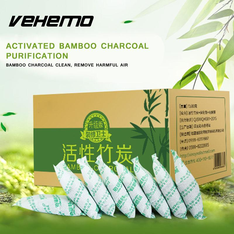 50g/bag Bamboo Charcoal Bag Car Home Air Freshener Activated Carbon Deodorant Air Purifying Methanol Smells Purifier Cleaner