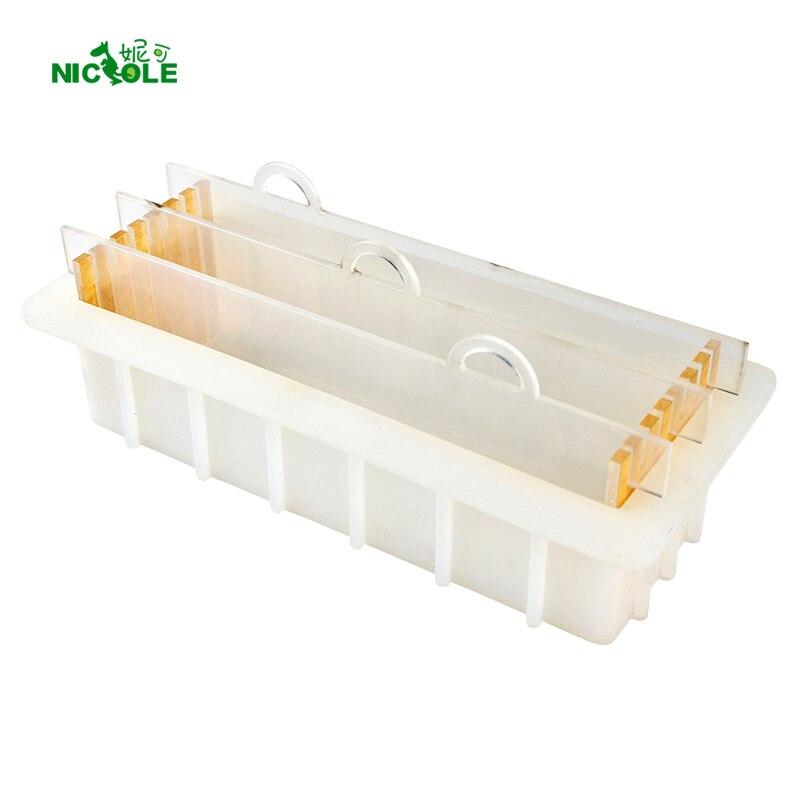 Рендеринг силиконовая форма для мыла с прозрачной вертикальные акриловые вагонкой белый прямоугольный пресс-форма хлебца для DIY тосты форм...