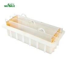 Силиконовая форма для мыла с прозрачной вертикальной акриловой ватной панелью, белая Прямоугольная форма для булочек
