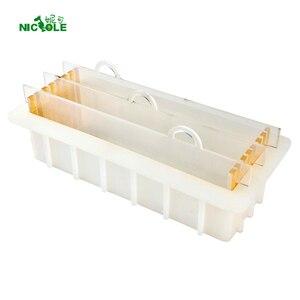 Image 1 - Formy silikonowe do mydła z przezroczystą pionową akrylową klapą biały prostokątny bochenek formy