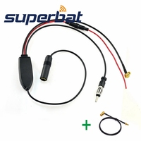 Superbat FM AM To DAB FM AM Car Radio Aerial Amplifier Converter Splitter With SMB To
