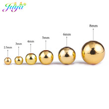 Juya broderies perles fournitures or/or Rose/noir 2.5mm/3mm/4mm/5mm/6mm/8mm perles de cuivre pour tresse perles fabrication de bijoux