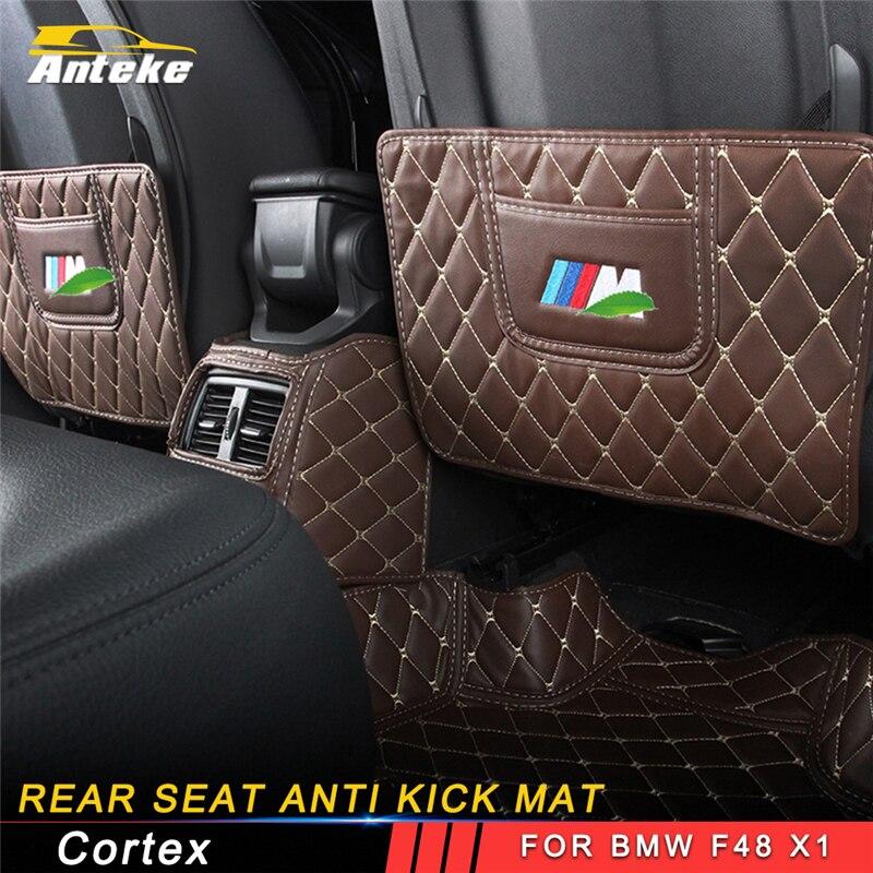 ANTEKE Auto voiture-style siège arrière anti coup de pied mat accessoires intérieurs pour BMW F48 X1 2016 2017 2018