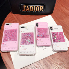 Pink Flamingo Dynamic Liquid Quicksand Case For Samsung Gala