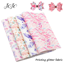 JOJO BOWS 22*30cm Sparkly Glitter Fabric Solid Feather Sheets For Clothing Home Textile Sheet Garment Sewing Party Decoration цена