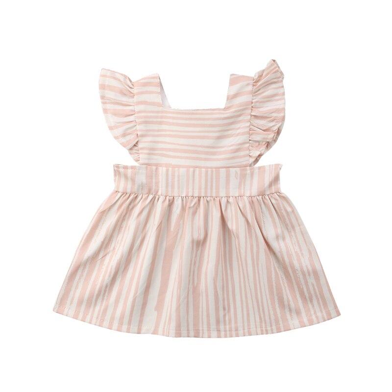 6174771ab Striped Newborn Toddler Kids Girl Summer Dress Ruffles Sleeve Tutu Princess  Formal Pageant Party Dresses Sundress