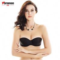 TONGMAO Solid Bra Women Sexy Self Adhesive Magic Push Up Bra Strapless Invisible Bras Side Closure