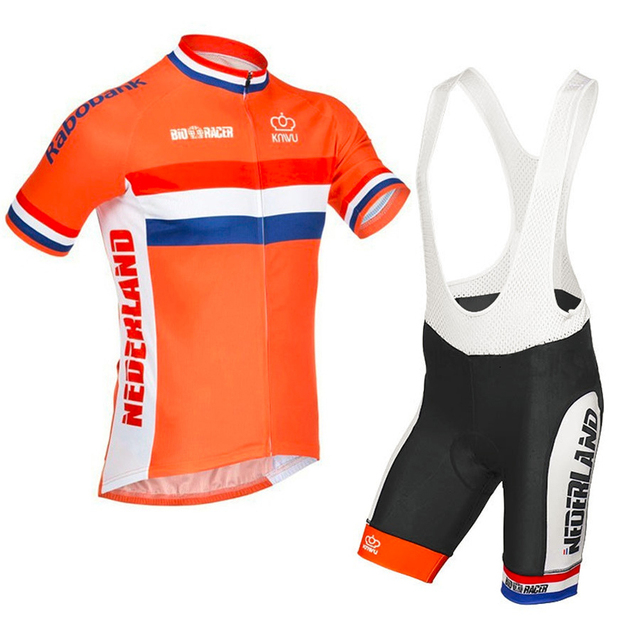 New mens orange cycling jersey dutch riding short sleeve jerseys road  cycling clothing wear high quality 1297bae3f