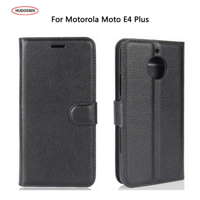 HUDOSSEN For Motorola Moto E4 Plus Case 5.5 Luxury Flip PU Leather Silicone Phone Cover Cases For Moto E 4 Plus XT1770 XT1773