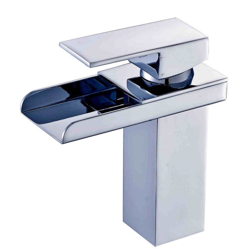 цена на Free Shipping Best Quality Bathroom Waterfall Basin Faucet Single Handle Hole Vanity Sink Mixer Tap Chrome Finish