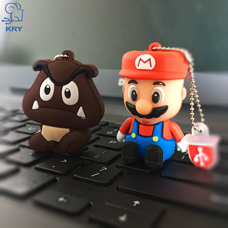KRY Mini Mario Pen Driver 2.0 Flash Card USB 4GB 8GB 16GB 32GB 64GB Flash Stick High Speed 3.0 Creative Cute Gift Free Shipping
