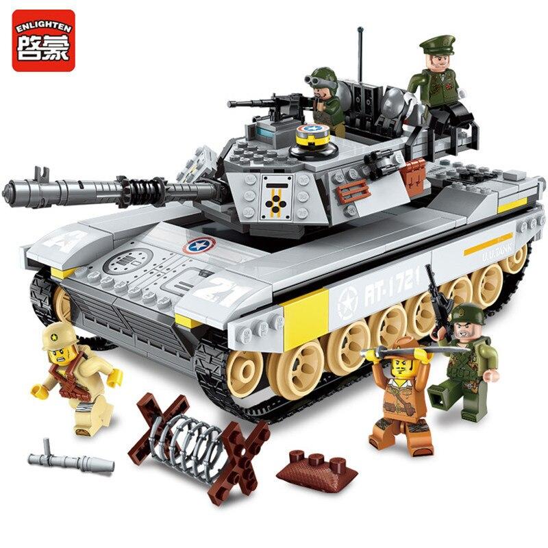 Iluminar 482 piezas de bloques de construcción LegoINGL militar batalla mar fuerza sobrecarga de los soldados del ejército cifras ladrillos juguetes para los niños