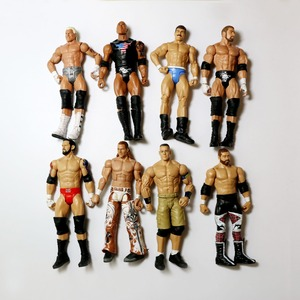 Image 2 - Wholesale 10Pcs/lot Occupation Wrestling Gladiators Movable Multi Joint Model Dolls Wrestler Action Figure toys Free Shipping
