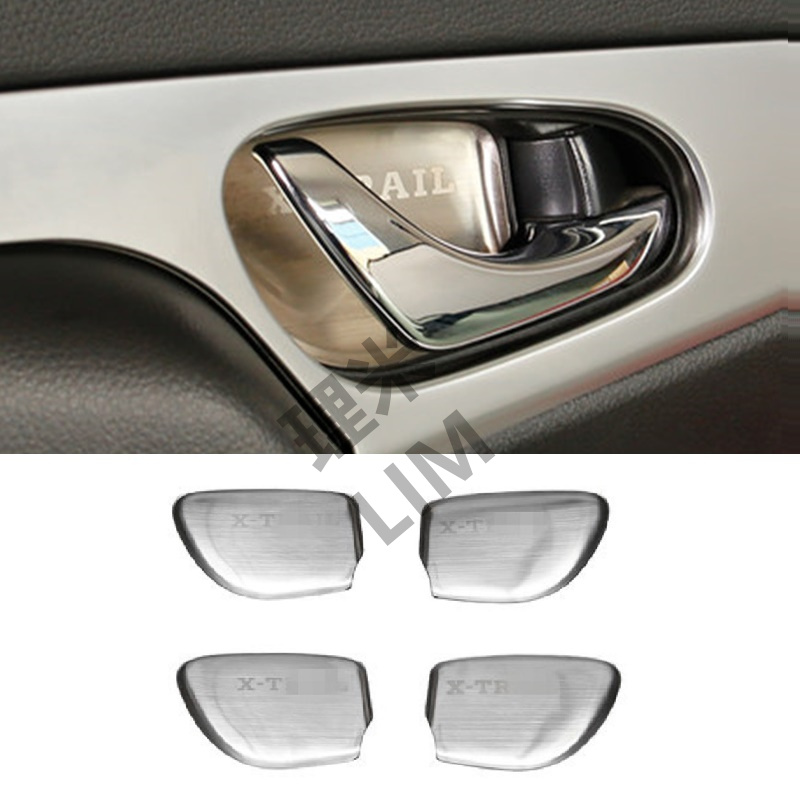 Stainless Steel Wrist of Door Handle Sticker Suitable for Nissan X Trail X-Trail Rogue T32 2014 2015 2016 Car Accessories car styling accessories silver roof rack side luggage carrier bars 1set for nissan x trail rogue 2014 2015 2016 2017