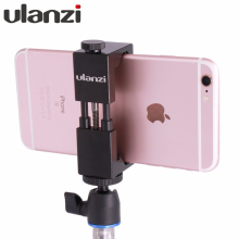 Ulanzi IRON MAN Universal Tripod Mount Stand Clip Adapter for iPhone Samsung Xiaomi Meizu Mobile smartphones clamp for Tripod