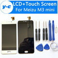 LCD + Сенсорный Экран Для Meizu M3 Mini Новые Прибытия Дисплей Планшета Стеклянная Панель Замена Для Meizu M3 Mini 1280*720 HD 5.0 дюймов