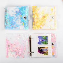 Colorful Quicksand 100 Pockets 3 Inch Mini Photo Album for Fujifilm Instax 9 8 70s 25 LiPlay Films Picture Bag Cards Holder