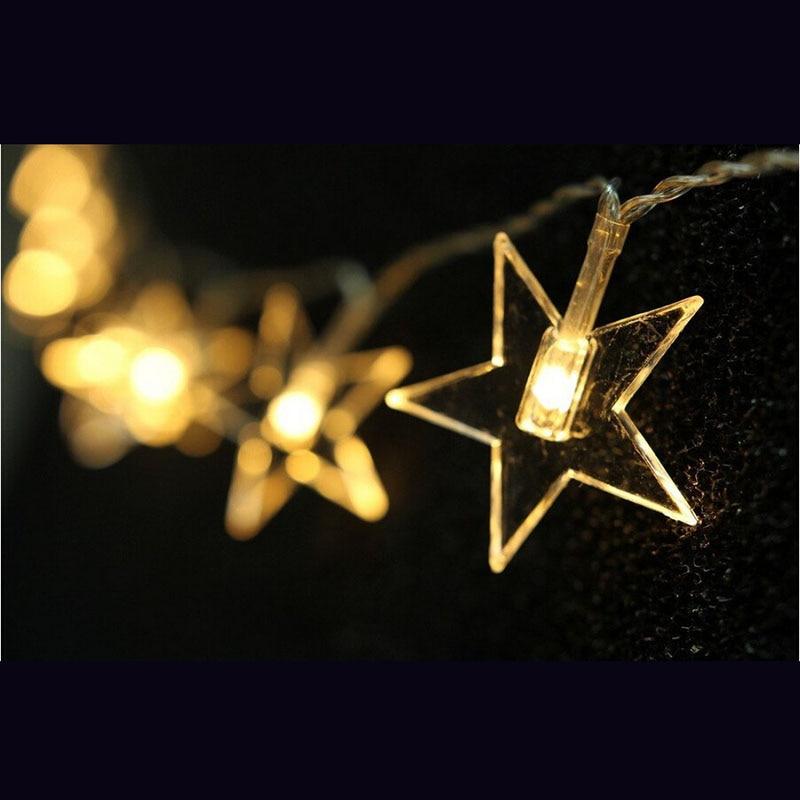 2 M 20LED twinkle Bintang String Lampu Baterai Dioperasikan Dekorasi Pembibitan Lampu peri lampu Natal Dekorasi Rumah