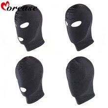 Morease 4 Style Fetish Unisex BDSM Hood Mask Black Mouth Eye Slave Hood Sex Product Toys Bondage Adult Game For Couple Women