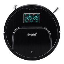 Eworld Odkurzacze M883 Dotykowy Czujnik Auto Ładowania Automatycznego Czyszczenia Spadek Z Dużym Mop Próżniowe odkurzacz Robot Czarny
