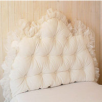 Romantic solid white/pink lace princess nobility bed pillow bedding cushions with cushion core comfortable textile birthday gift