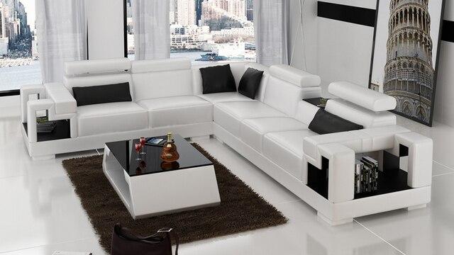 Germany modern leather corner sofa set for living room 0413 K5001B ...