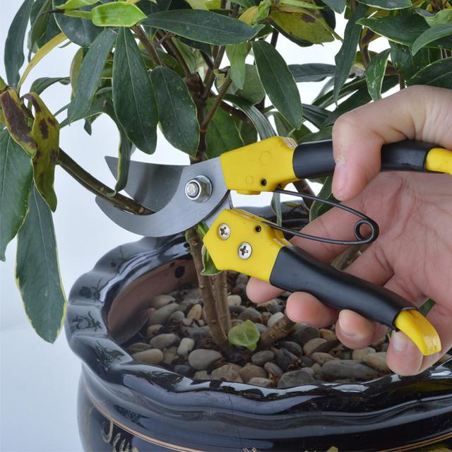 Bonsai Pruners Gardening Secateur Baumschere SnoeischaarFlexsteel 8″ Pruning Shears Tesoura Para Poda Garden Tools