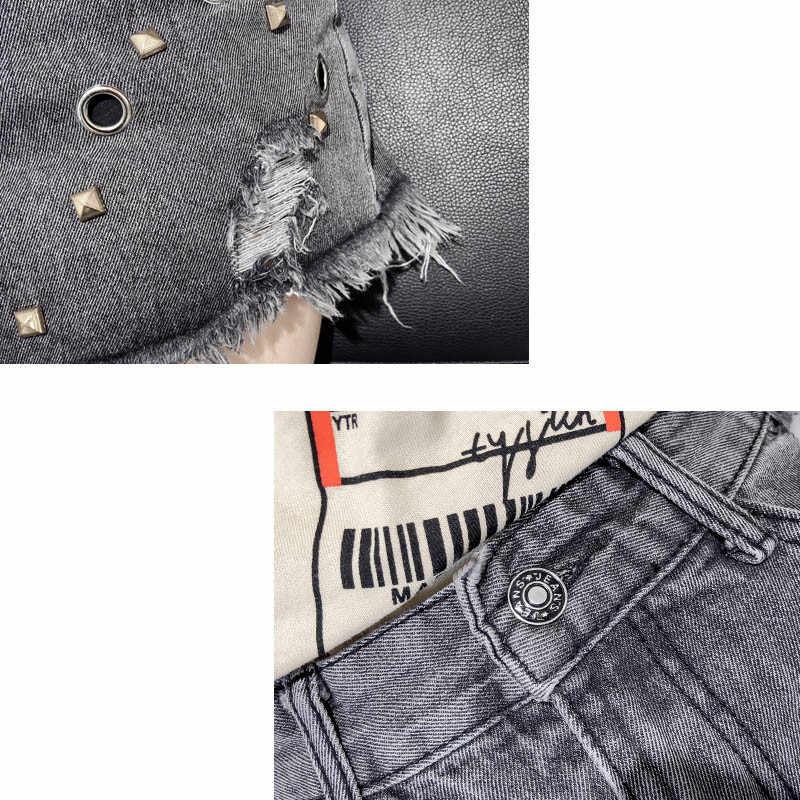 Hot koop Vrouwen Shorts 2019 Zomer Mode Nieuwe Grote maat 3XL Vrouwelijke Denim Shorts Dunne Losse Hoge taille Dames Korte broek JIA271