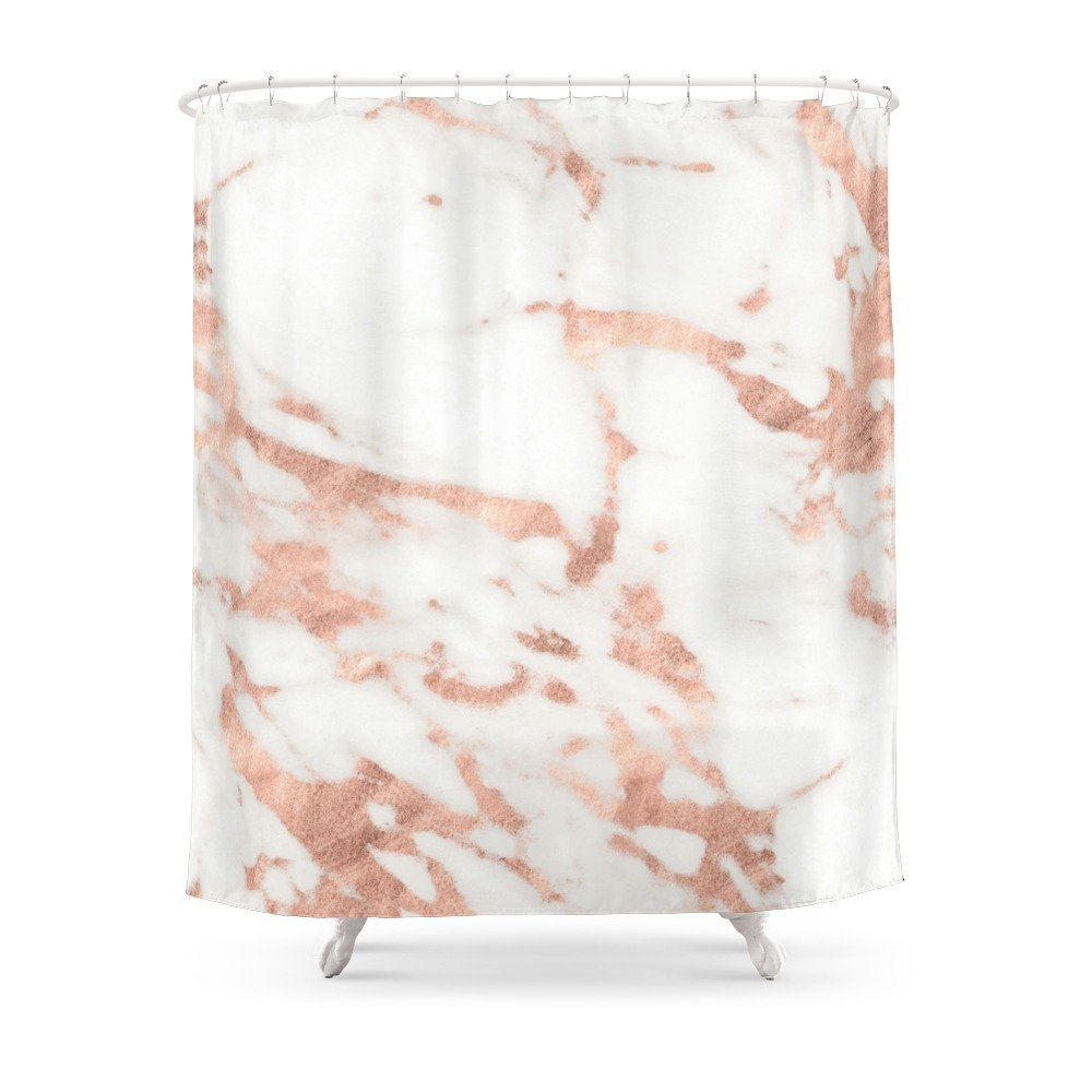 Rose Gold Marble Bathroom Decor