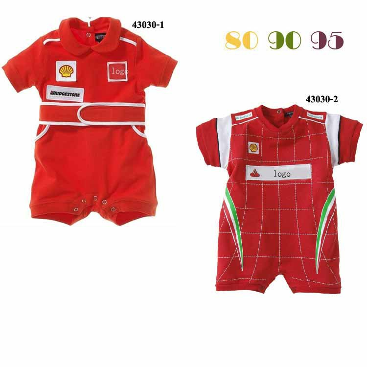 1pcs/lot Christmas gift 2016 hot sale baby rompers Red car clothes children romper newborn boys&girls rompers for kids