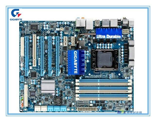 Gigabyte original motherboard for GA-X58A-UD3R 1366 pin X58 Desktop mainboards support USB3 SATA3 L5639 L5520