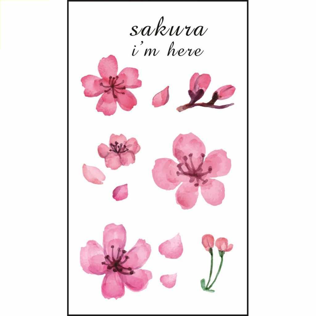 Flores Coloridas da moda etiqueta do tatuagem temporária à prova d' água mulheres sexo flash árvore flor da flor falso tatoo tatto henna vermelha L58
