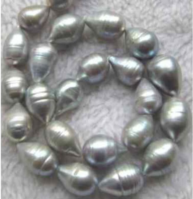 classic 12 14mm natural baroque grey pearl necklace 18inch 36 Yellow clasp
