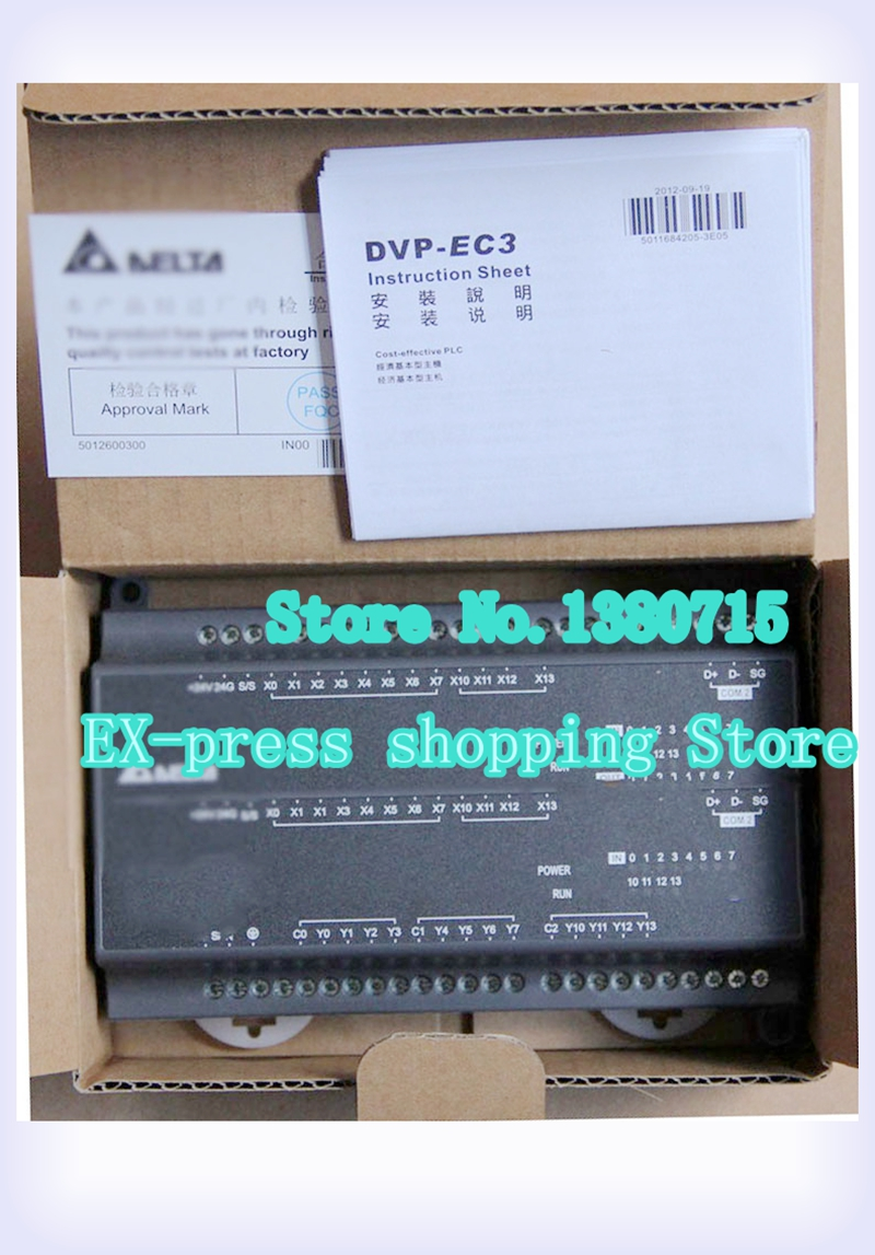 New Original DVP24EC00T3 PLC EC3 series 100-240VAC 12DI 12DO Transistor output new original dvp24ec00t3 plc ec3 series 100 240vac 12di 12do transistor output