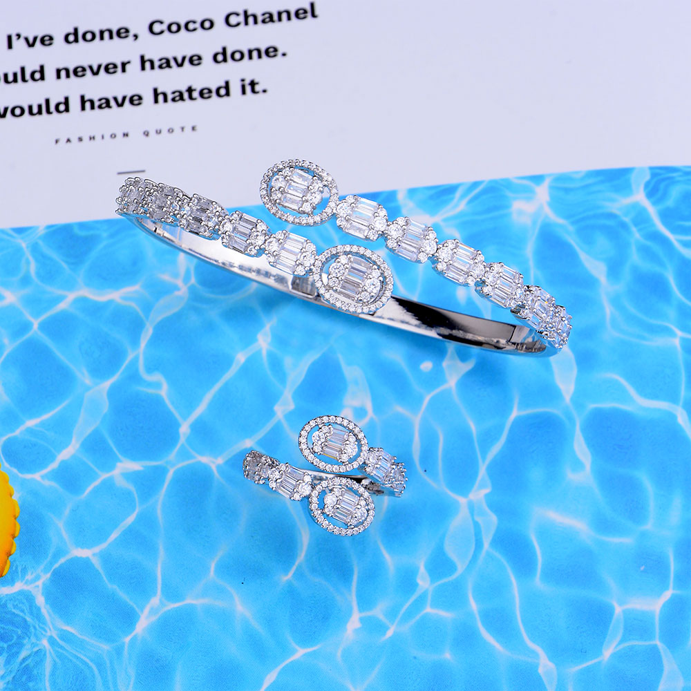 Trendy Bangle Ring Set 4