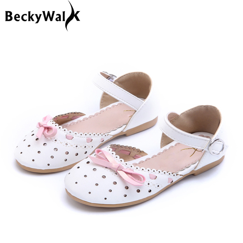 New Fashion Summer Baby Girls Sandals Shoes Sweet Bow