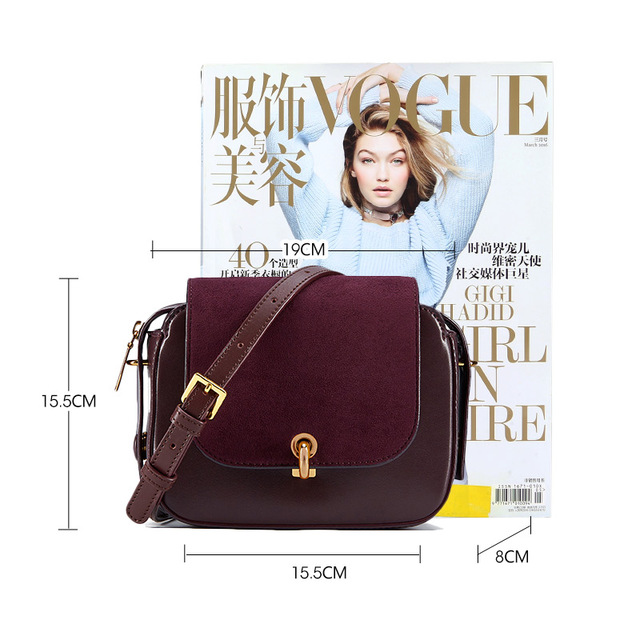 LA FESTIN 2018 New Fashion Messenger Bag Women Saddle Bag Small Shoulder Bags Innovative C-type Magnetic Buckle Bag Female