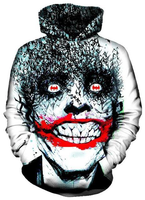 3D Printed Heath Ledger The Joker Dark Knight Hoodies Famous Brand Harajuku Oversized Hip Hop Men Sweatshirt