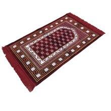 XHX888 Islamic Muslim Prayer Carpet The middle small flower Rug Two Color Pilgrimage Blanket Banheiro Salat Musallah Praying Mat