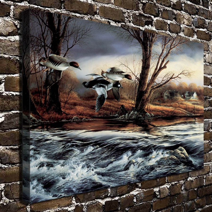 A773 Terry Redlin Rushing Rapids Animal Scenery .HD Wall pictures ...