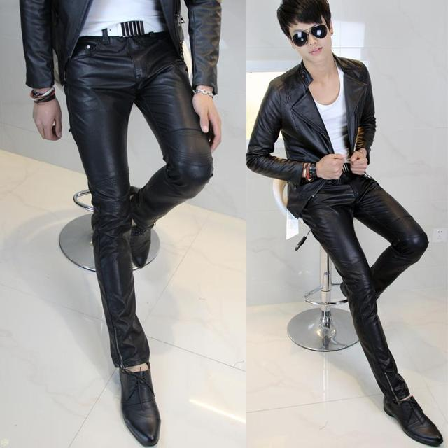New Arrival Hot Selling Men S Clothing Leather Pants Tight Leather