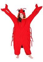 Unisex Yetişkin Kugurumi Pijama Halloween Party Cosplay Kostüm Gecelik Lounge Aşınmaya Istakoz