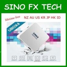 Ubox4 Desbloquear Tecnologia S900 pro BT ubox gen 4 Android 5.1 TV box Bluetooth vida livre IPTV para JP KR MINHA AU NZ CA EUA HK SG ID