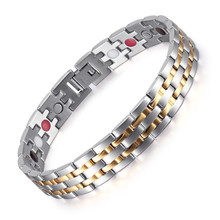 Jewelry mens health-care hand string stainless steel magnet bracelet popular jewelry
