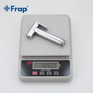 Image 4 - Frap Bidet Faucet Brass Shower Tap Washer Mixer Muslim Shower Ducha Higienica Cold & Water Mixer Crane Round Shower Spray F7505