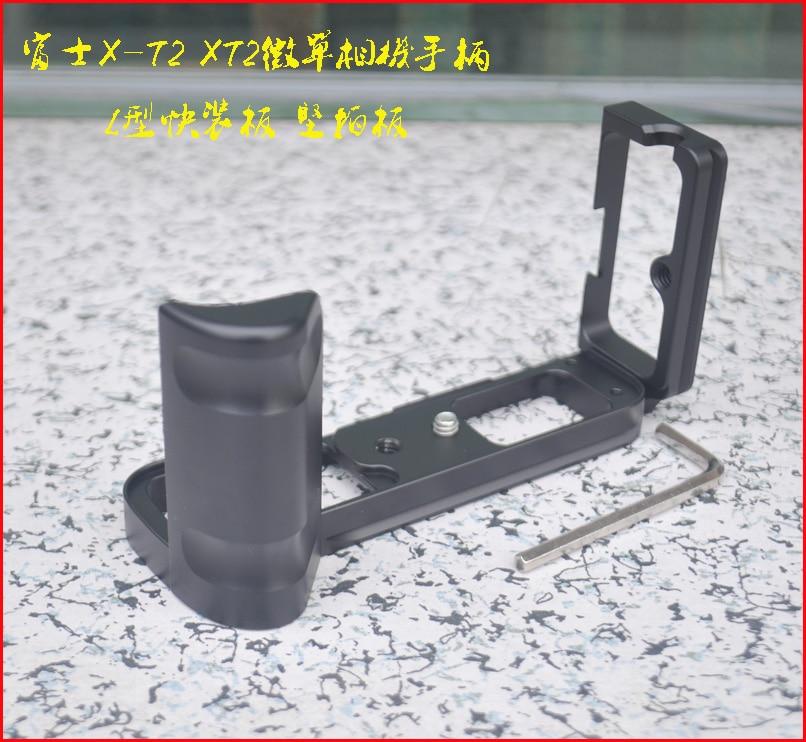 Quick Release Plate Hand Grip Holder L Bracket for Fuji Fujifilm X-T2 XT2 Vertical Shoot Quick Release L Plate